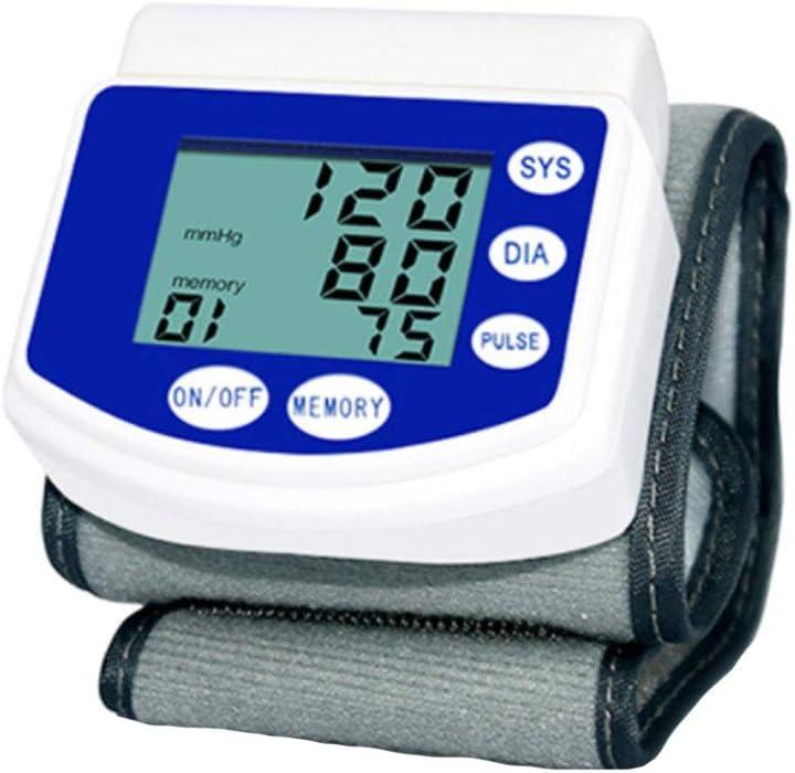 SXFYMWY Monitor de presión Arterial médico Pulsera de la frecuencia cardíaca Inteligente monitorización del Ritmo cardíaco esfigmomanómetro Adecuado para Uso doméstico,Blue,62x75mm
