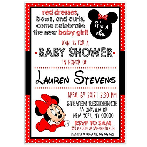 Minnie Mouse RED Baby Shower Party -