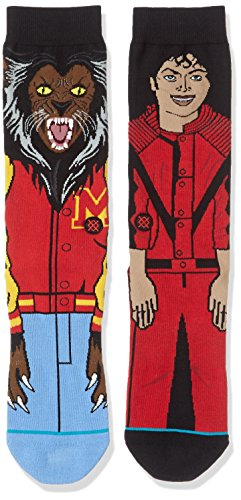 Stance Men's Michael Jackson Socks (Red, Large) ()