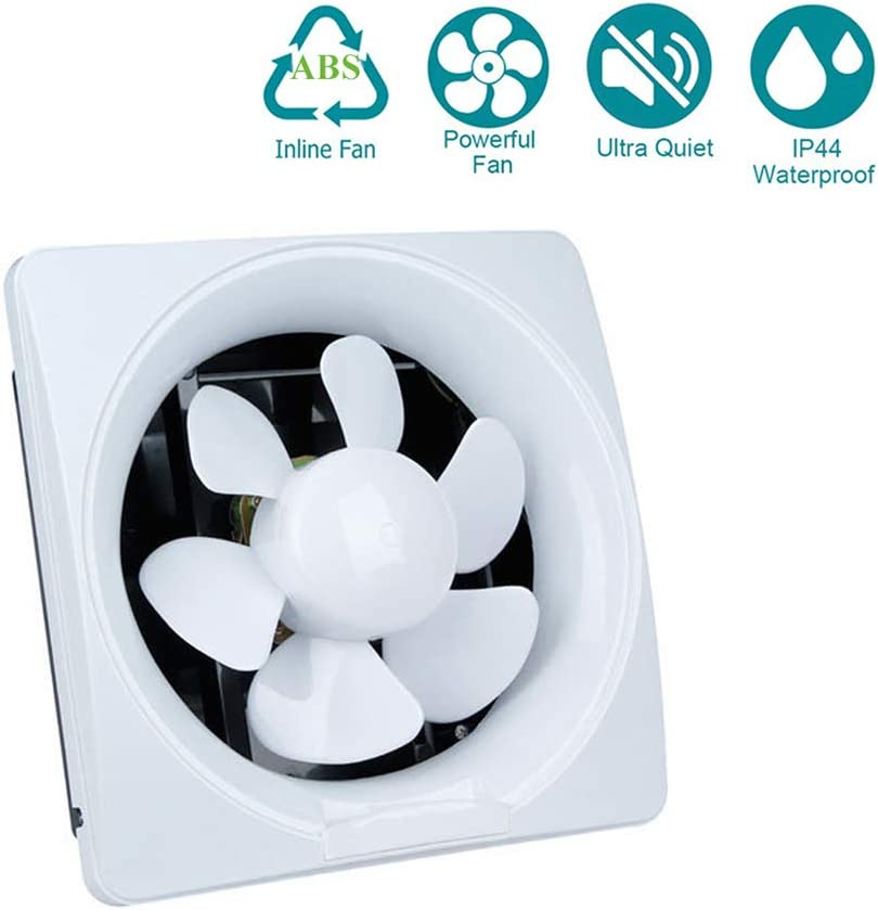 YUN Extractor Fans@ La energía Baja Cocina baño silenciosa Campana extractora 200 mm con extracción de ventilación de cordón,10inch
