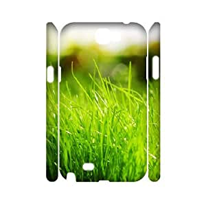 3D Samsung Galaxy Note 2 Case, Unique Green Case for Samsung Galaxy Note 2 {White}
