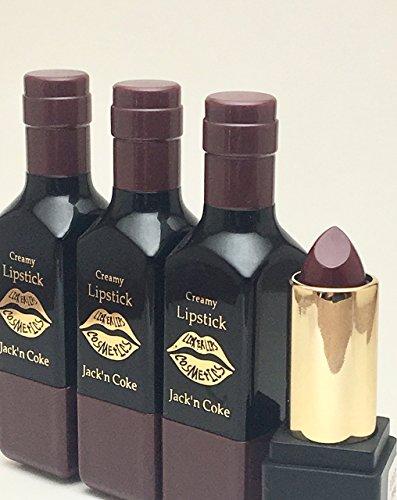Wine Bottle Lipstick by Lick 'er Lips |Jack'n Coke | Organic Moisturizing Long Lasting Natural Formula 5.3 - Wine Herbal Merlot