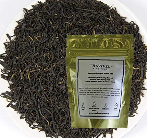 (MeiMei Fine Teas Keemun Gongfu Qimen Black Tea - Top Grade Chinese Loose Leaf Single Origin Ecologically Grown - Energy Boost English Breakfast (50g/1.76oz))