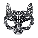 Face mask Shield Veil Guard Screen Domino False Front Diamond Makeup Dance Phoenix Party mask Bunny cat face Half face Venice Metal Wrought Iron mask Black