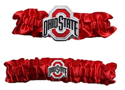 "Ohio State Satin Garter Set ""One to Keep,One to Throw"""