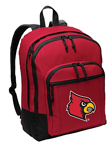Broad Bay University of Louisville Backpack MEDIUM CLASSIC Style With Laptop (Louisville Backpack)