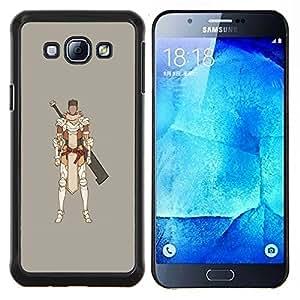 """Be-Star Único Patrón Plástico Duro Fundas Cover Cubre Hard Case Cover Para Samsung Galaxy A8 / SM-A800 ( Samurai juego de ordenador Espadachín"""" )"""