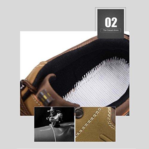 ZXCV Zapatos al aire libre Cuatro estaciones de los hombres deportes al aire libre senderismo zapatos casuales cómodos hombres s Khaki