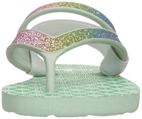 Sanuk Kids Lil Mollie Prints Laced Shoe (Toddler/Little Kid/Big Kid) Rainbow/Misty Mint