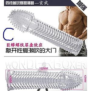 GigaMax - Reuseable Crystal Condoms Penis Extender Ejaculation Delay Penis Enlargement Sleeves