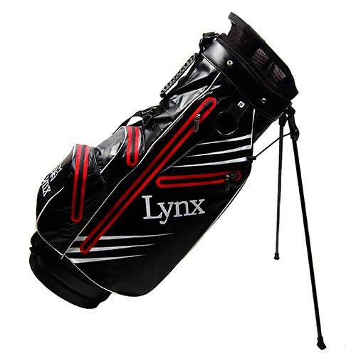 Lynx New Predator Waterproof Golf Stand Bag (Red/Black)