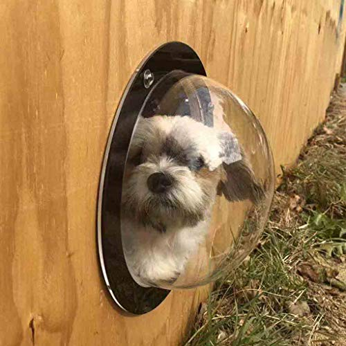 (*m·kvfa* Pet Dog Fence Bubble Window Pet Peek Fence for Dogs Durable Acrylic Dome Fence Window Clear View Solution Prevent from Jumping Reduce Barking & Digging)