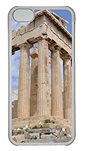 iPhone 5C Case Dilapidated Acropolis Athens Buildings PC iPhone 5C Case Cover Transparent