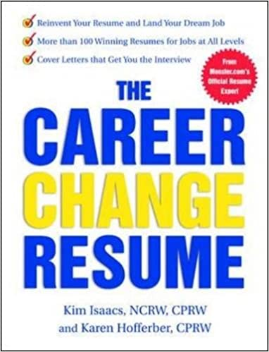 the career change resume karen hofferber kim isaacs 0639785381761