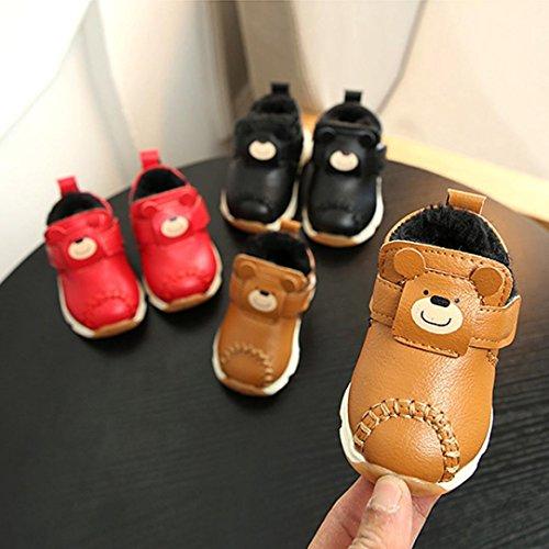 Huhu833 Mädchen Stiefel, Baby Warm Infant Jungen Mädchen Martin Cartoon Leder Sneaker Kids Casual Shoes Rot