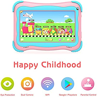 Kids Tablet 7 inch Android Tablet for Kids Edition Tablet PC Android Quad  Core with WiFi Dual Camera IPS Safety Eye Protection Screen and Parents