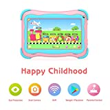 Kids Tablet 7 inch Android Tablet for Kids Edition Tablet PC Android Quad Core with WiFi Dual Camera IPS Safety Eye Protection Screen and Parents Control Mode (Pink)