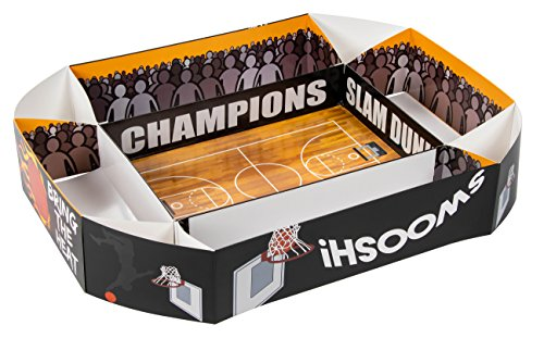 Disposable Serving Tray - Basketball Party Tray, Snack Stadium with Basketball Court, Hoop, Player Design for Basketball Game, Birthday Party, 4 x 20 x 25.5 Inches
