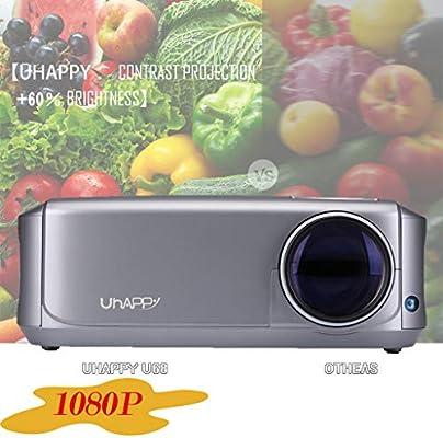 Webla Proyector portátil para video proyector HD 1080P LED ...