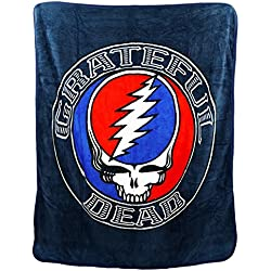Grateful Dead Steal Your Face Aztec Throw Blanket 50 x 60
