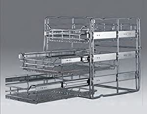 Cesta extra ble para muebles de cocina 3 cestas acero - Cestas extraibles ...