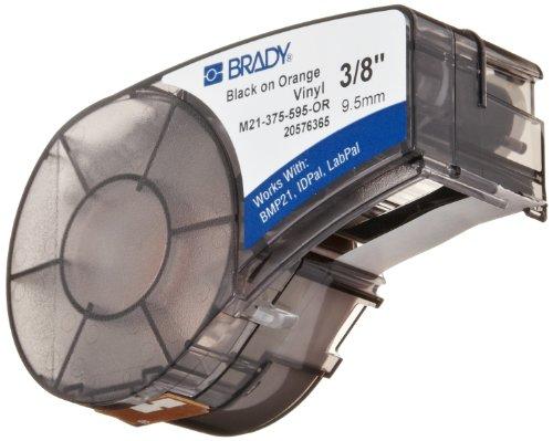 Brady M21-375-595-OR BMP21 Tape B- 595 Indoor/Outdoor Vinyl Film Size: 3/8