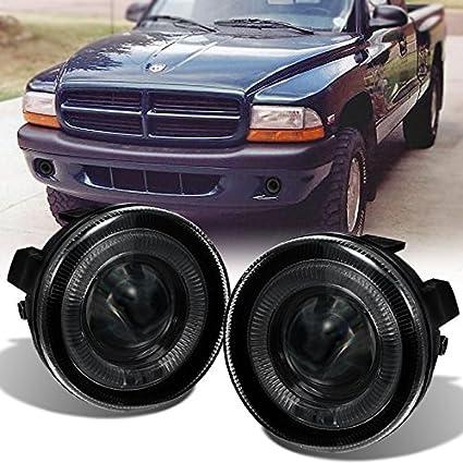 amazon com for 01 04 dodge dakota durango smoked led halo projector