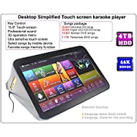 ACEUME 15.6'' Desktop Touch All-In-One Screen Karaoke Player 4TB HDD 68K Songs,Vietnamese, Taiwanese songs English and Korean Songs. Controlling Both Via Monitor and Mobile Device Update to Nov.2017