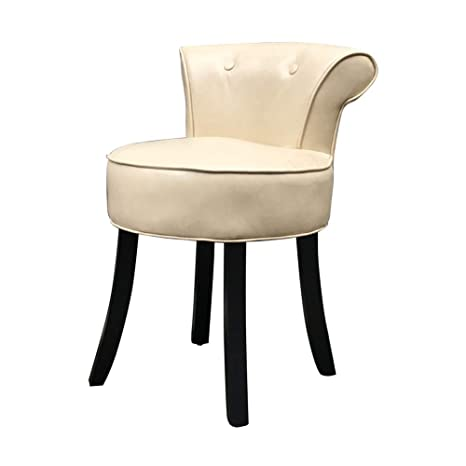 Pleasant Comfortable Chair High Fan Back Vanity Stool European Solid Wood Dining Chair Oil Wax Leather Dressing Chair Comfortable High Resilience Sponge Makeup Alphanode Cool Chair Designs And Ideas Alphanodeonline