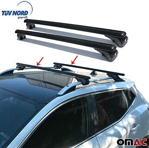 Bold Bar aluminio Baca – Barra de seguridad para bicicletas (Baca 125 cm negro con llave con TUV ABE: Amazon.es: Coche y moto