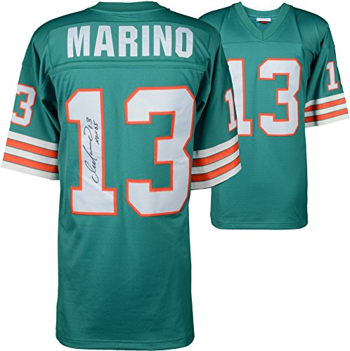 Dan Marino Miami Dolphins Autographed Mitchell & Ness Teal Replica Jersey with