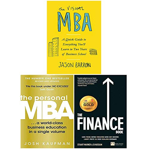 The Visual MBA, The Personal MBA, The Finance Book 3 Books Collection Set