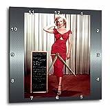 3dRose dpp_107179_1 Marilyn Monroe in Niagara Wall Clock, 10 by 10″ For Sale