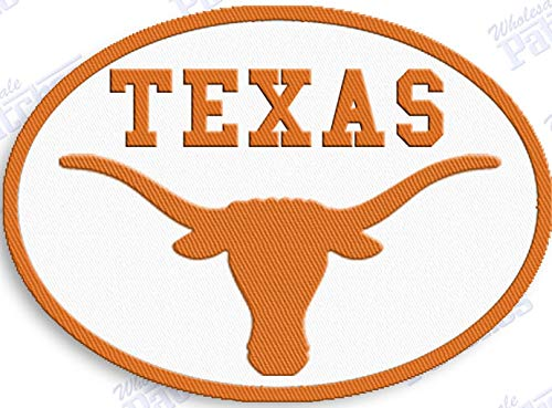 (TEXAS LONGHORNS IRON ON EMBROIDERED EMBROIDERY PATCH PATCHES SCHOOL OF UNIVERSITY STATE COLLEGE NCAA FOOTBALL SPORTS)