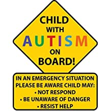 Child With Autism Car Truck Decal Sticker. Alert Responders