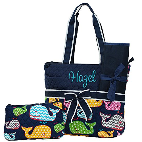 Quilted Diaper Bags Personalized - 6