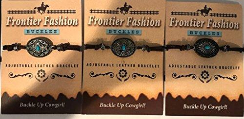 Frontier Fashion Western Buckle Leather Bracelet