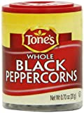 Tone's Mini's Pepper, Black Whole, 0.70 Ounce (Pack of 6)