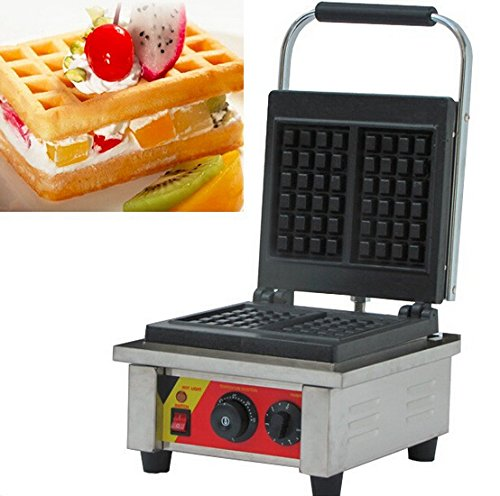 Boshi Electronic Instrument NP-540 110V/220V Stainless Steel Commercial Waffle Making Machine Two Slices Waffle At One Time Waffle Toaster Waffeleisen CE Certification