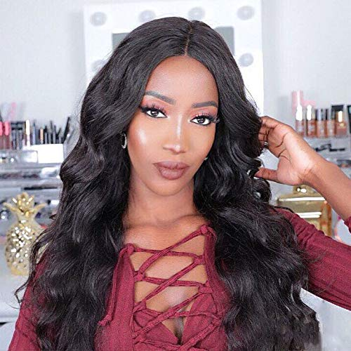 Eayon Hair Pre Plucked 360 Lace Frontal Wigs-Body Wave Full Frontal Lace Human Hair Wigs for Women Natural Hairline with Baby Hair Natural Color 150% Density 18inch