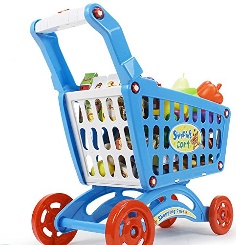 19'' Mini Shopping Cart with Full Grocery Food Toy Playset for Kids by Liberty Imports (Image #4)