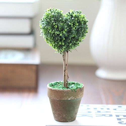 Set Home Decoration Artificial Plants Potted Cute Modeling Fake Potted Plants Heart-Shapsd Lorigun