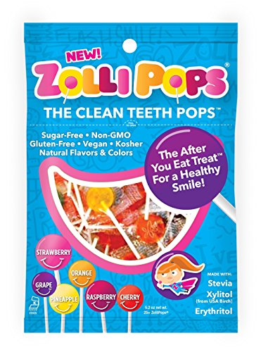 Zollipops The Clean Teeth Pops, Anti Cavity Lollipops, Delicious Assorted Flavors, 75 Count (Sugar Free Lollipop)