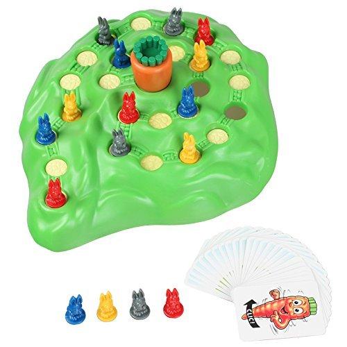 ウサギ ボードゲーム Funny Bunny カウントスキルため子供用面白いおもちゃ
