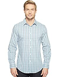 Perry Ellis Men's Standard Long Sleeve Multi Color Check...