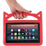 F i r e 7 2017 Case, F i r e 7 Tablet Case, F i r e 7 Kids Case, Lmaytech Kids Shock Proof Protective Cover Case for A m a z o n F i r e 7 Tablet (Compatible with 5th 2015/7th 2017) (Red)