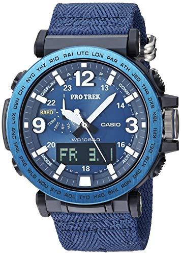 Casio Men's Pro Trek Stainless Steel Quartz Watch with Nylon Strap, Black, 23.9 (Model: ()