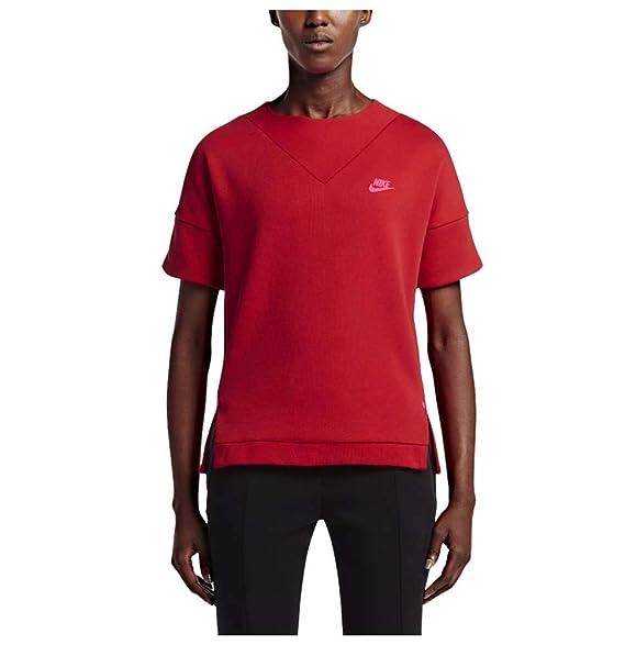Nike Women s Tech Fleece Crew Knit Sweatshirt-University Red at ... 2ab9646dd