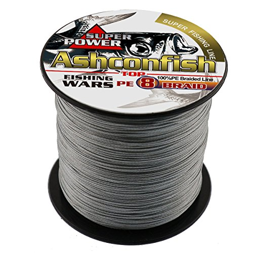 - Ashconfish Braided Fishing Line-8 Strands Super Strong PE Fishing Wire 500M/546Yards Multifilament Fishing String Ultra Power Heavy Tensile for Saltwater & Freshwater 150LB Gray