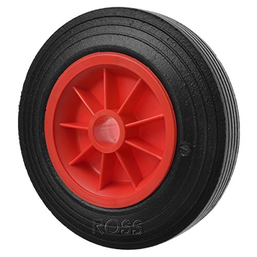 Solid Rubber Trolley Wheel 160mm with a 12.7mm bore Ross Castors